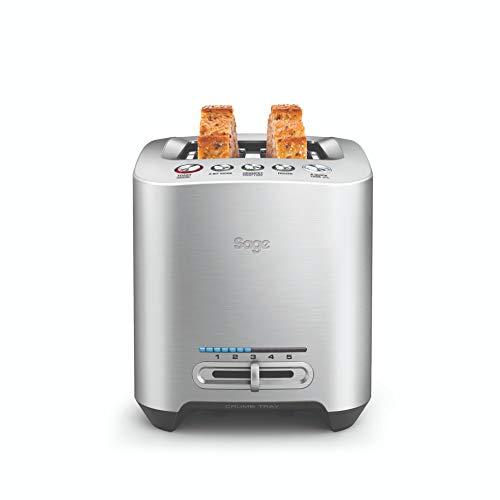 SAGE STA825 the Smart Toast 2 Scheiben Toaster mit LED-Fortschrittsanzeige, Gebürstetes Edelstahl