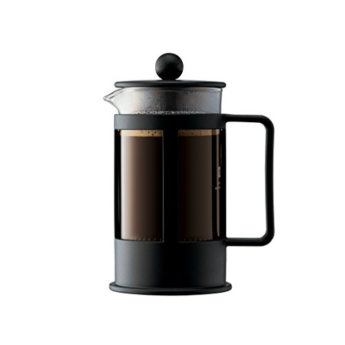 Bodum KENYA Kaffeebereiter (French Press System, Spülmaschinengeeignet, 0,35 liters) schwarz (Tasse Kaffee French Press)