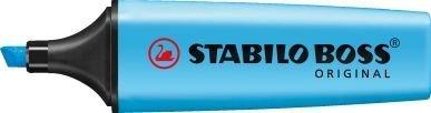 Bleu Lot de 3surligneurs STABILO BOSS couleurs fluorescentes encre à base d'eau