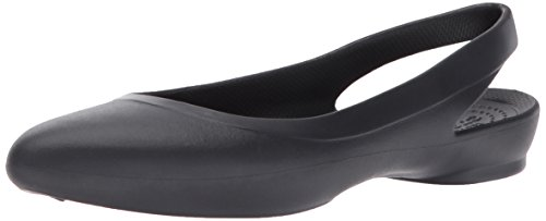 crocs Damen Eve W Slingback Ballerinas, Schwarz (Black 001), 38/39 EU -