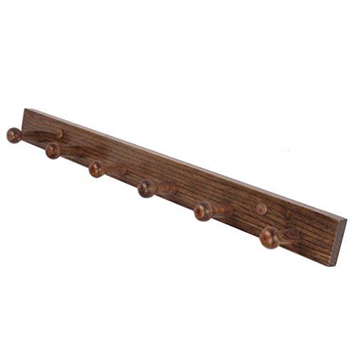 JIANFEI Wand Montiert Kleiderständer Wall Mounted Coat Hook Aufhänger Kleidung Hut Haken Horizontal Haltbar, Aus Holz ( Farbe : Straight edge , größe : 5.5*60cm ) (Farbe Straight Edge)