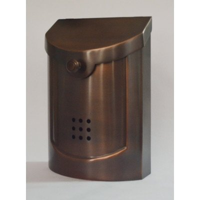 Ecco Wand (Ecco E5Wand montiert Mailbox, antik Kupfer versilbert, klein von Ecco)