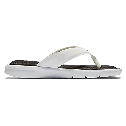Nike Womens Ultra Comfort Thong Black White Synthetic Sandals 40.5 EU