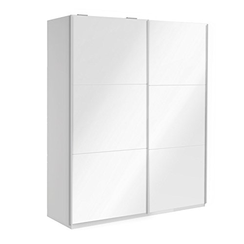 Porte coulissante - Optimeo - Blanc brillant - l 100 x P 2 x H 230 cm
