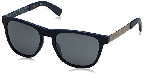 Boss orange bo 0270/s 9y jc5, occhiali da sole uomo, nero (blue antqblazu/grey fl slv), 55