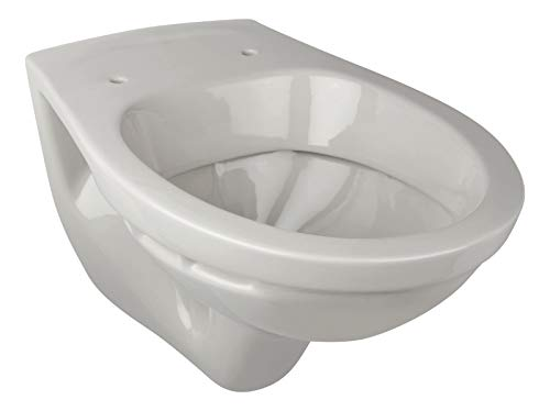 Calmwaters - Hänge-WC in Manhattan-Grau als Tiefspüler mit waagerechtem Abgang, Tiefspül-WC - 08AB2308