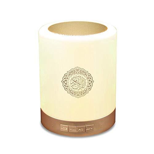 Muslim Quran Wireless Bluetooth Lautsprecher-Quran-Lautsprecher Smart Touch tragbare Bunte LED-Lampe für Koran Rezitation, Übersetzung, Energieeffizient, geeignet für Muslim Player Reciter