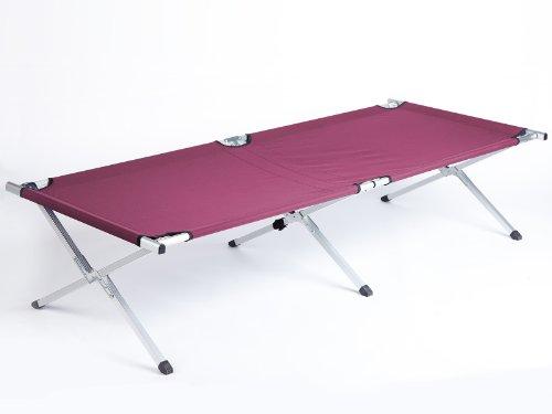 31nys8w92jL - Skandika Camping Bed XXL Comfortable Camping Lounger 210 x 80cm