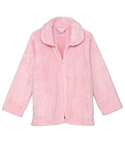 TowelSelections Damen-Bettjacke mit Reißverschluss vorne, Fleece, Bademantel - Pink - Large - Fleece-bademäntel Damen Reißverschluss Vorne