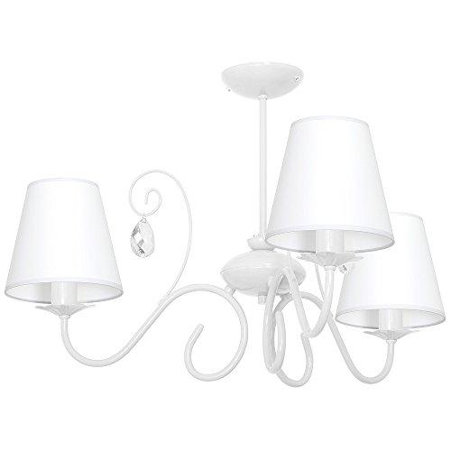 LAURA 3 WHITE / WEISS Hängelampe Deckenleuchte Deckenlampe Kronleuchter