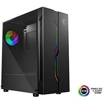 MSI MAG VAMPIRIC 010 Mid-Tower Cabinet Motherboard Support ATX/Micro-ATX/Mini-ITX (Black)