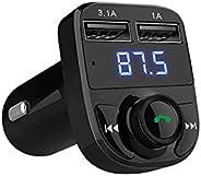 Super Bluetooth Car Kit Handsfree Set FM Transmitter MP3 music Player 5V 4.1A Dual USB Car charger Support Mic
