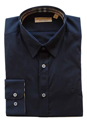 BURBERRY Herren Freizeit-Hemd Grau grau, Schwarz Large