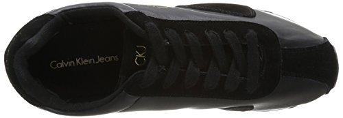 Calvin Klein - York Smooth/Suede, Scarpe da ginnastica Uomo Nero (Nero)