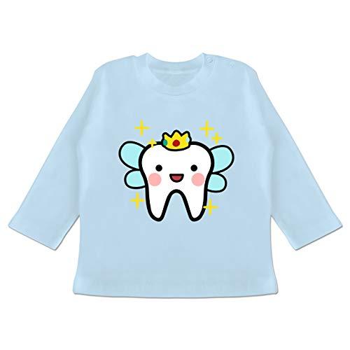 Karneval und Fasching Baby - Zahnfee mit Krone - 3-6 Monate - Babyblau - BZ11 - Baby T-Shirt - Faschingkostüm Fee