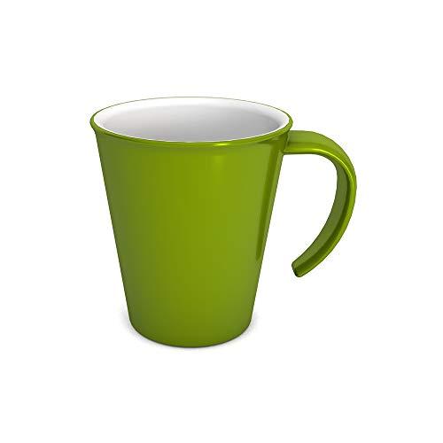 Ornamin Kaffeepott 300 ml grün (Modell 1201) / Kaffeebecher, Mehrwegbecher Kunststoff