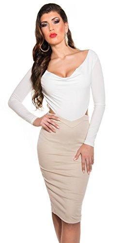 Bustier sexy en armylook avec rivets koucla by in-stylefashion sKU 0000A63 Blanc - blanc