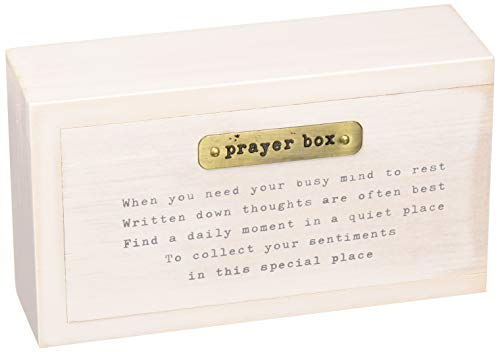 Mud Pie 4265518Holz Prayer Box Set, weiß (Pie Box Holz)