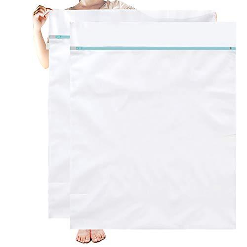 OTraki Wäschenetz Groß, Wäschesack XXL 90x110cm 2 Stücke Wäschebeutel Wiederverwendbare Wäschenetze mit Reißverschluss Groß für Wäschesäcke Laundry Bags Wäschetasche Wäschesack Waschmaschine EINWEG