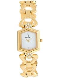 Escort Analog White Dial Women's Watch- 3003 GM