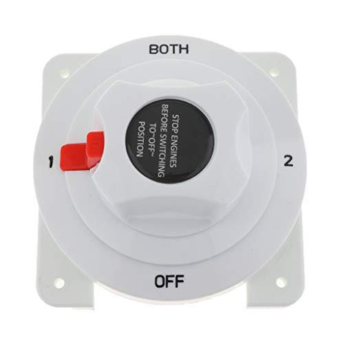 H HILABEE Dual Battery Drehschalter Nockenschalter Wendeschalter Hauptschalter Motorschalter Schalter für Boot (36v Batterie Marine)