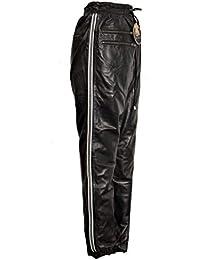 S-5XL Echtes Leder Lederhose Lederleggings Röhre Echtleder Grau Gr