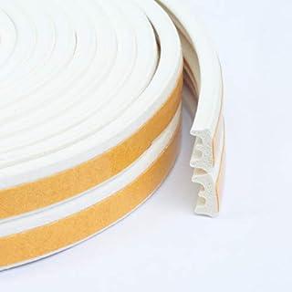 FENSTERDICHTUNG selbstklebend - Dichtband Türdichtung Gummidichtung Fensterdichtband Tür Fenster (50 m, E - Profil, Weiss)
