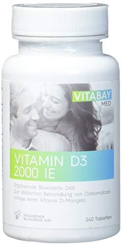 Vitamin D3 Vitabay 2000 I.E. - 240 Vegane Tabletten