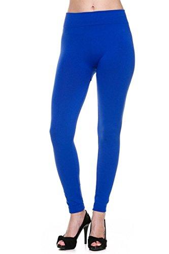 2LUV Damen Leggings Gr. Einheitsgröße, königsblau (Strumpfhosen Forever 21,)