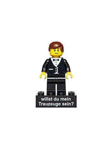 Hauke Trade Minifigur Trauzeuge für eine Trauung gedruckt auf Legoteilen (Geschenke Ideen Für Trauzeugen)