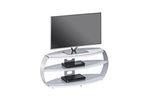 Maja 16339405 Supporto per TV, 1220 x 508 x 450 mm, in alluminio, in metallo e vetro, colore: grigio platino