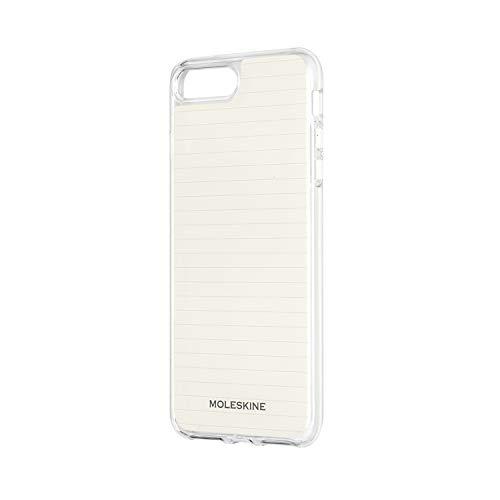Moleskine - iPhone Hülle - Durchsichtige Hülle mit Papier - Schutzhülle Transparentes Etui mit Papiervorlagen für Cover iPhone 6+ 6S+ 7+ 8+ - Durchsichtig