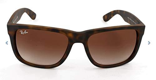 Ray-Ban 0RB4165 Justin Classic Sonnenbrille Large (Herstellergröße: 55), Braun (Gestell: havana, Gläser: braun grandiert 710/13)