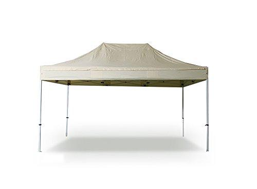 INTEROUGE Tente pliante 3x4,5 M en Acier et Polyester 300g/m² Tonnelle pliante Chapiteau Barnum Ivoire
