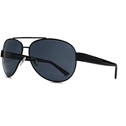 Levis Polarizzata occhiali da sole Aviator in nero opaco LO22374/01