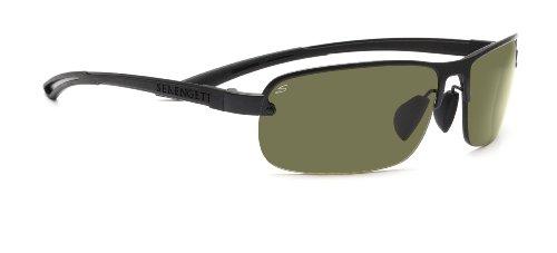 Serengeti Strato Sonnenbrille, Objektiv: Polar PHD 555NM, Schwarz