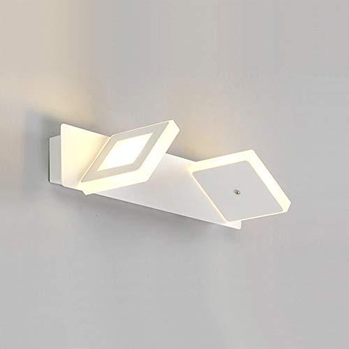 Topdeng Modern Led Spiegel-leuchte, Hardwired Wasserdicht Anti-nebel Wandleuchten Garderobe Schminktisch Badezimmer Wandbeleuchtung Tricolor-B Doppelter Kopf 32cm-6W