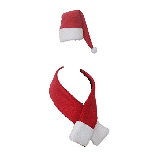 Sunnywill 1 Mütze Schal Flasche Rotwein Weihnachten Weihnachtsschmuck für Silvester Geschenkkorb Dorf