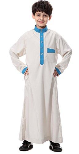 Chor Anzug (Auspicious beginning Mittlere Osten-arabische Junge Normallack-lange Hülse Thobe moslemisches bescheidenes Kurta mit Tasche)