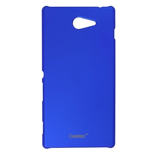 Casotec Ultra Slim Hard Shell Back Case Cover for Sony Xperia M2 - Dark Blue  available at amazon for Rs.189