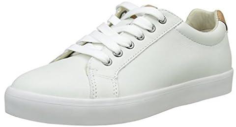 Clarks Jungen Brill Rap Jnr Low-Top, Weiß (White Leather), 34
