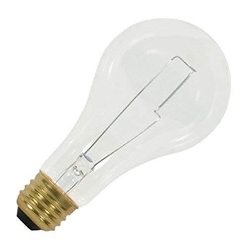 Klar Satco-glühlampe (SATCO Products GIDDS-2474154 Glühlampe A23, 200 W, 120 V, mittelgroßer Sockel, klar, 2.500 Stunden durchschnittliche Nenndauer, 24 Stück pro Gehäuse)