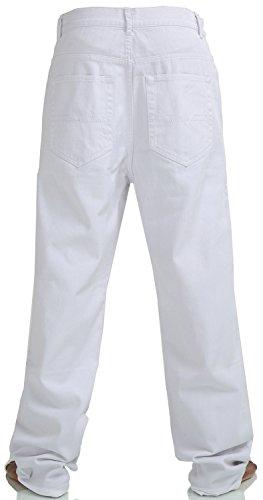 Pizoff Herren Hip Hop Hipster Rap Style Baggy Jeans in mittelblauer Waschung Y1754-03