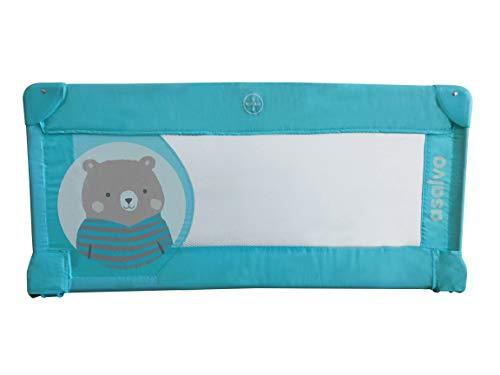 Asalvo - Barrera de cama 90cm Osito, Color Turquesa