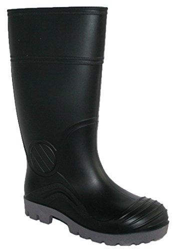 MENS STEEL TOE CAP WELLY FULLY WATERPROOF WITH FLEXIBLE OUTSOLE BLACK 9
