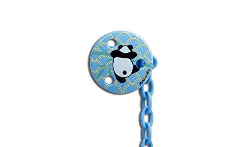 Suavinex Panda - Broche para chupete, color azul