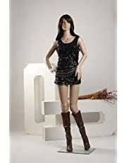 DD Female Straight Full Body Mannequin Display Dummy 5.8 Feet (Skin Colour)(with Hair Wick Free) (Eco)