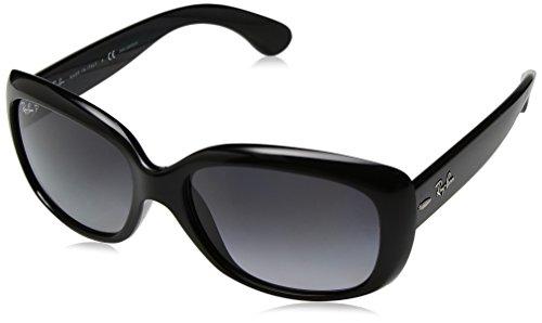 Ray-Ban RAYBAN Damen Sonnenbrille 4101 Shiny Black/Greygradientdarkgreypolar 58