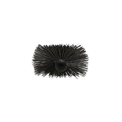 Kamino-Flam Soporte, Escobilla, Acero, Negro/Gris, 18x6x56 cm, 4 Unidades