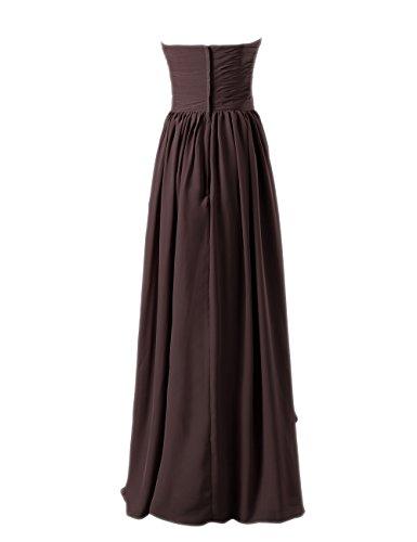 Dresstells, A-ligne-parole longueur robe de soirée en mousseline de soie chérie Bleu Saphir